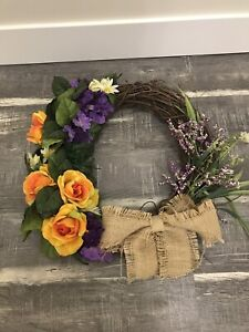 Spring/summer faux floral wreath