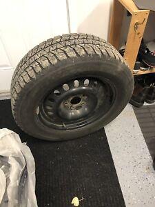 235 60 r17 winter tires and rims (Bridgestone Blizzak)