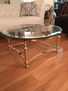 Bowering Co. Glass Top Table