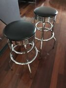 Bar stools retro chrome as new $60 EACH Coolaroo Hume Area Preview