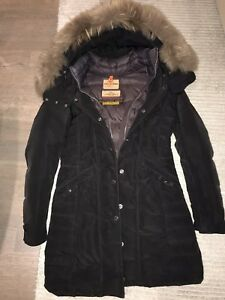 Woman long parajumper  parka jacket size Small