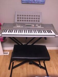 Keyboard, stand, and bench