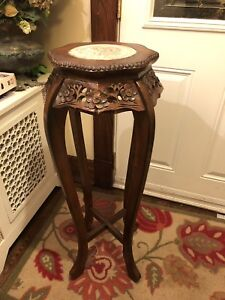 Vintage Chinese Wood Carved Plant Stand/decorative Piece