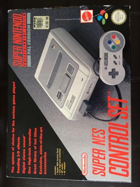 Original Super Nintendo Game Console - CIB - Boxed, all