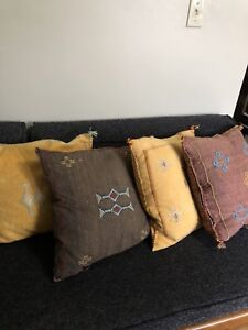Silk Cactus Moroccan Couch Cushions
