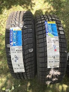 2x michelin x ice 215/65/16 NEUF