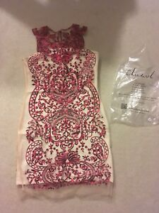 Beautiful embroidered cocktail dress.