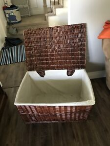 Wicker Basket with Liner
