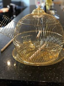 NEW SMALL GOLDEN BIRD CAGES