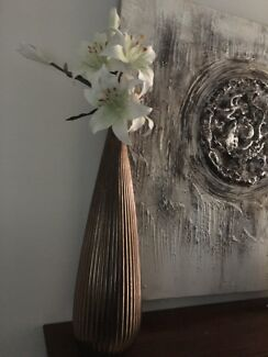 Ceramic Vase With Flowers Narre Warren Casey Area Preview