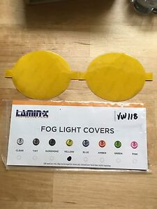 Lamin-X yellow fog light covers vw mk5 jetta gti
