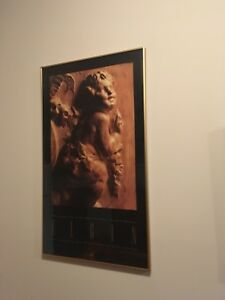 ELGIN Poster - rare vintage image framed with gold