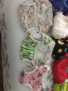 Barely used cloth diapers