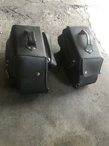 Saddle bags for motorcycle