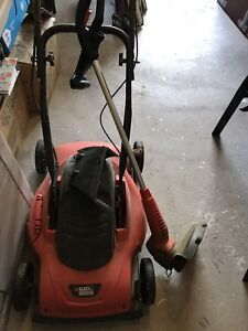 Black and Decker Lawnmower and Weed Wacker