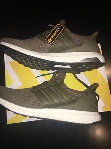 Adidas Ultra Boost olive size 10