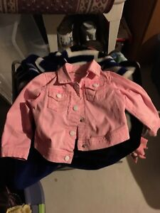 Pink jean jacket - 24 months