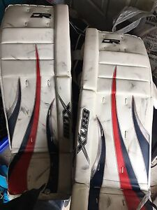 Full set of goalie equipment.