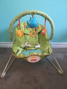 Fisher Price Green Meadows vibrating musical bouncer
