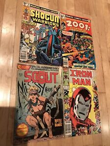17 assorted bronze and silver comics