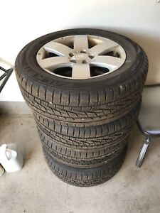 GM Tires and rims for sale ( 235/60/17) will fit other vehicles