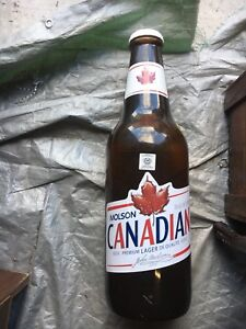 X-large Molson Canadian coin bank