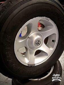 Tyres and rims 210 Anzac ave kippa ring Toyota land crozier Redcliffe Redcliffe Area Preview