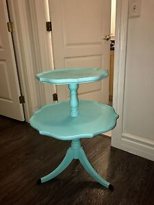 Tiffany Blue 2tier side table with matching coffee table