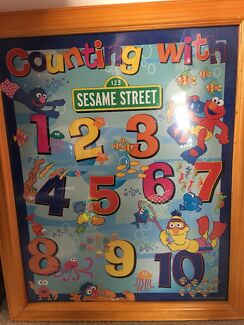 Framed print - sesame st counting theme
