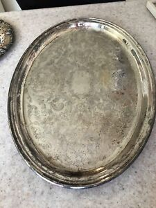 Silver plate serving dishes