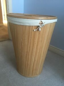 Ecostyles Bamboo Round Hamper with Lid
