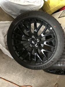 Brand new rims and tires off of 2019 Ford Mustang GT