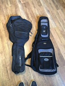 Acoustic and bass guitar cases