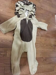 Old Navy 12 month lion fleece costume