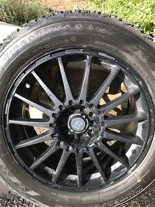 Mag 18 5x114 avec pneus hivert 225/60r18 Hyundai Kia