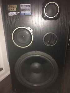 "2 audio tech 12"" speaker cabinets"