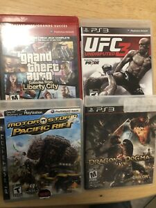 PS3 games - GTA - UFC 3 - Dragons Dogma-Pacific Rift