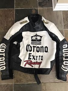 Corona Racing Leather Motorcycle Jacket 2xl/xl
