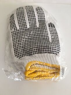 Rubber latex + cotton gloves + disposable gloves New!
