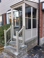 Aluminum railing system privacy panel column post gate handrail