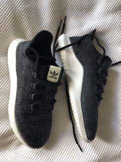 Women's Adidas Tubular shoes, size US 8, navy/black