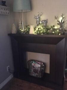 Fireplace mantel (no insert or decor included)