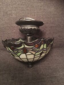 Tiffany ceiling light and wall sconce