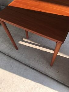 Two mid century nesting tables