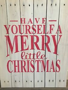 Solid wood sign with custom Christmas design
