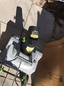 """Earth wise  snow blower ,18"""" Electric snow Thrower"""