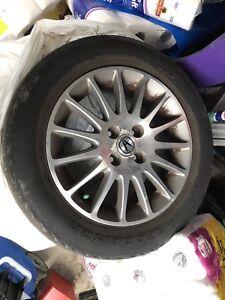 4 mags Acura 190/60/15 avec pneu été usés