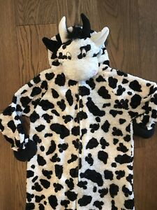 Toddler Halloween Cow Costume - plush & warm!