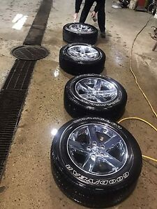 Rims and tires from a 2015 Dodge 4x4  $1200