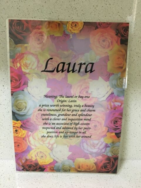 Laminated Laura name meaning poster | Miscellaneous